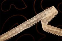 """3/4"""" Beige Vintage Cotton Lace Trim #1248"""