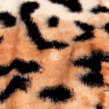 Jaguar Animal Print Faux Fur Minky Fabric