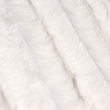 White Mink Animal Faux Fur Fabric