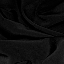Black Polyester Peachskin Fabric
