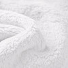 White Double sided cuddle Fleece Wholesale
