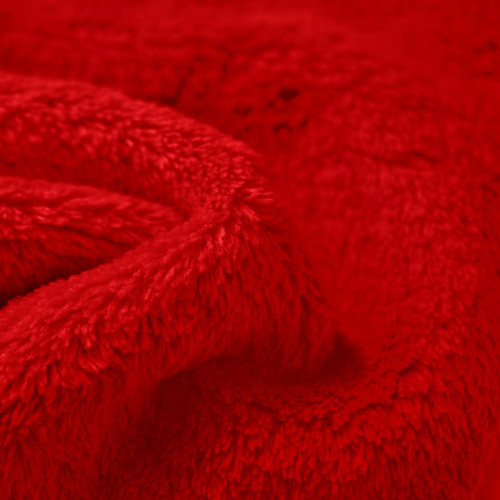 Wholesale Red Double Sided Minky Cuddle Fleece Fabric Bolt