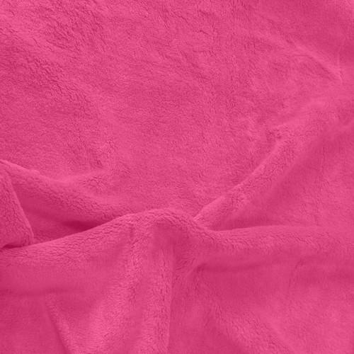 Solid Strawberry Minky Fabric