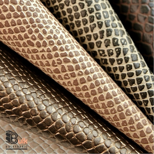 Reptile Lizard Skin Leather Vinyl Wholesale Bulk Fabric