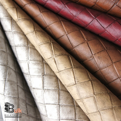 TILE FAUX LEATHER WHOLESALE FABRIC