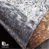 SILVER SHIMMER VINYL FAUX LEATHER FABRIC
