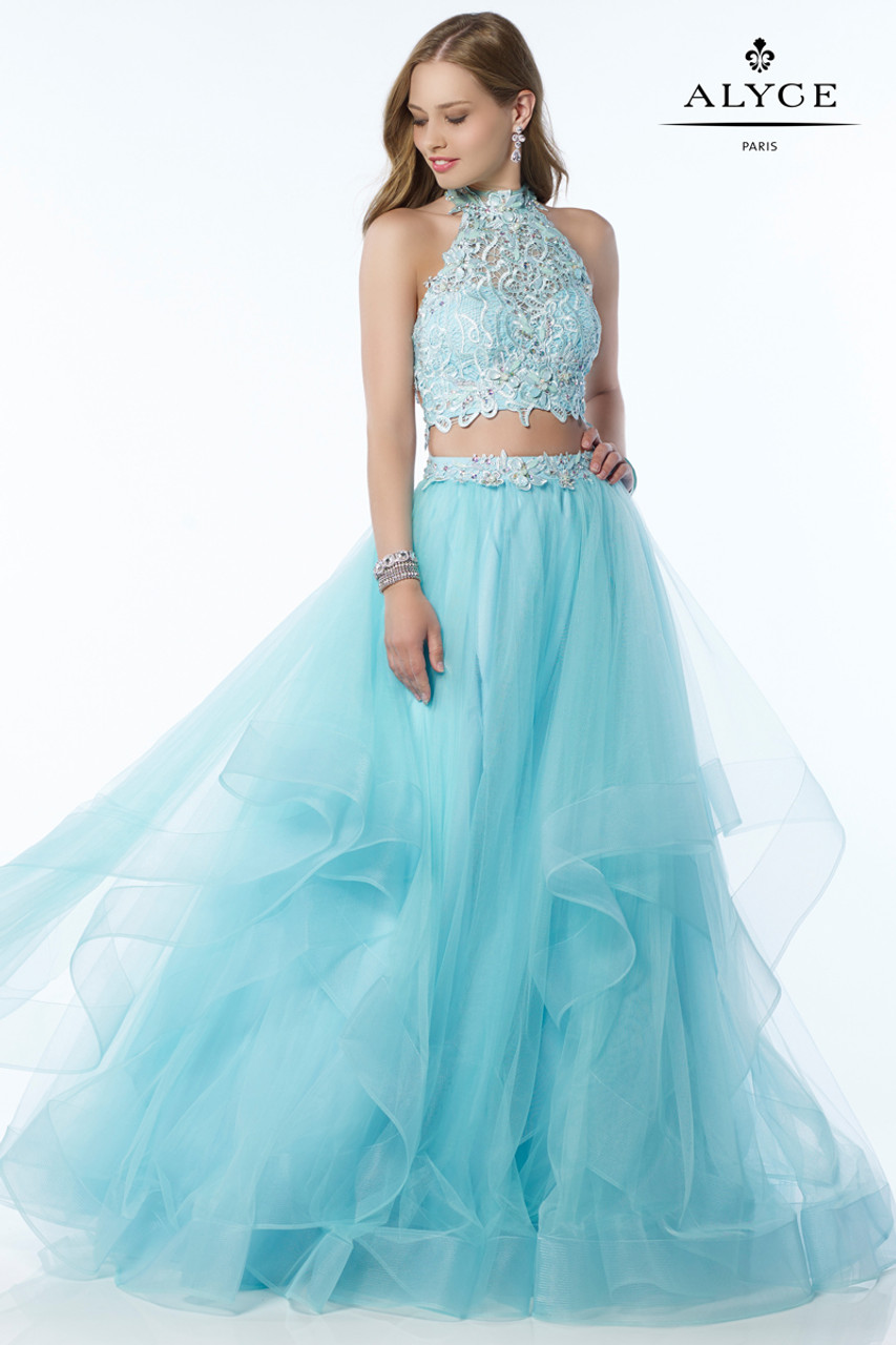 Top Two Piece Prom Dress by Alyce 6765