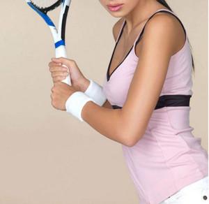 White Sports Wristbands (Pair)