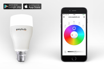 Easybulb RGBW iPhone Controlled LED Light Bulb Philips Hue Equivalent