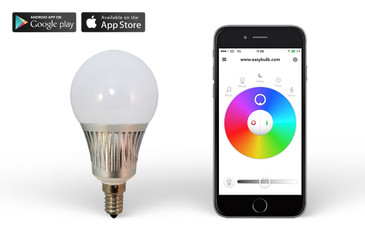 Easybulb 5W RGBW E14 Screw iPhone iOs Android Controlled Light