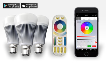 3 Easybulb PLUS RGBW 9W Light Bulb + Remote Control