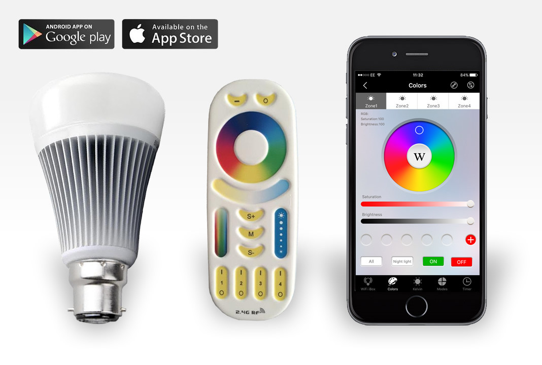adam4adamradar mobile iphone easybulb plus iphone controlled 9 watts rgbw led bulb remote 1338
