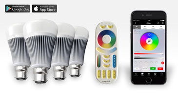 4 Easybulb PLUS RGBW 9W Light Bulb + Remote Control