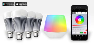 4 Easybulb PLUS RGBW 9W Light Bulb + Wifi Controller