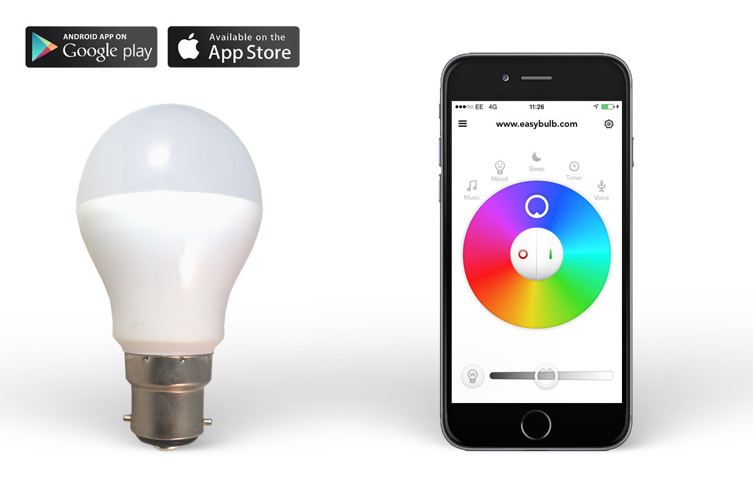 control lights with iphone philips hue equivalent smart easybulb rgbw iphone 13866