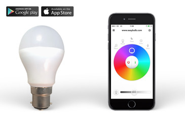 Easybulb RGBW 6W Smart Bulb Hue - Remote and Phone Control Light