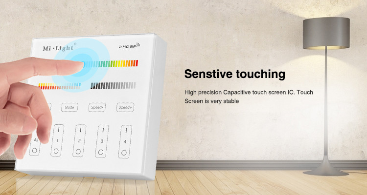Wall Switch 2.4GHz 4 Zone RGB+CCT - No Wiring Needed on lights in walls, painting in walls, windows in walls, doors in walls, pipes in walls, heating in walls, insulation in walls, plumbing in walls, conduit in walls, plugs in walls, cable in walls, outlets in walls,