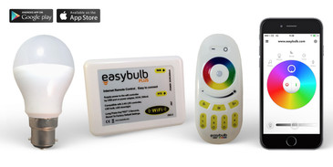Easybulb iPhone and iPad Controlled RGB Colour Changing LED Light Bulb With Wifi Box