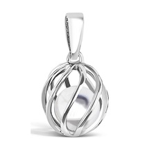April  Birthstone silver pendant - White Topaz