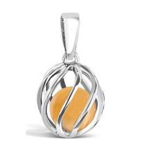 Celebrate a November birthday with a Amber birthstone necklace! Twist version