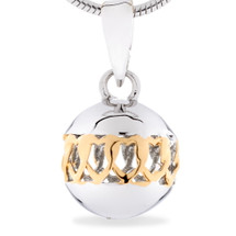 Friendship silver pendant - We Belong Together- sterling silver pendant (Yellow Gold)