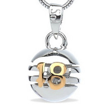18 - Don't Grow Up - sterling silver pendant