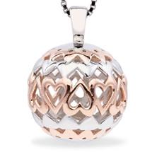 Forever Love - Real Love Lasts Forever - sterling silver pendant (Rose Gold)