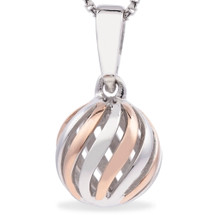 Journey - With You All The Way - sterling silver pendant (cute size, rose gold)