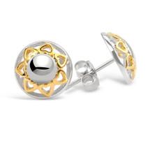 Love Is All Around Silver Stud Earrings