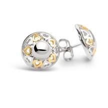 Circle of Love - Silver Stud Earrings
