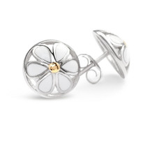 Daisies - Silver Stud Earrings