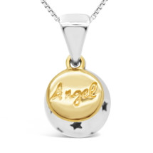 Angel - my love, my life - sterling silver pendant