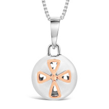 Congratulations on your bundle of joy! - sterling silver pendant (rose gold plating)