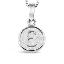 Sterling Silver 'E' pendant