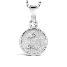 Sterling Silver 'L' pendant