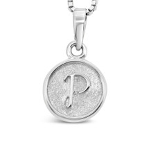Sterling Silver 'P' pendant