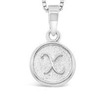 Sterling Silver 'X' pendant