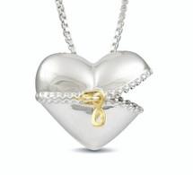 Unzip my heart - sterling silver necklace
