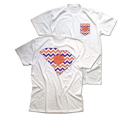 Clemson Tigers Chevron T-shirt
