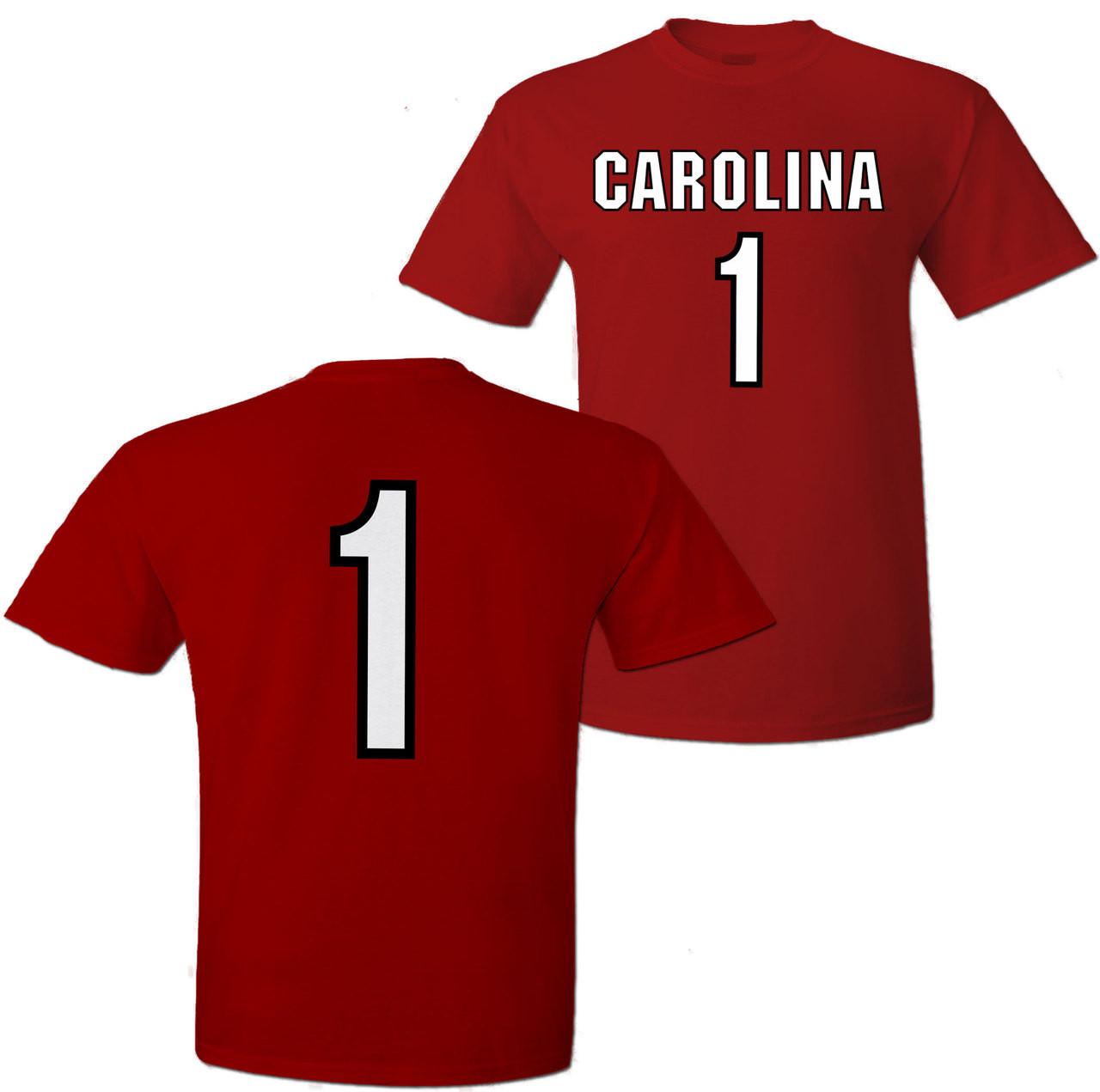 the best attitude 14ad6 e0568 South Carolina Gamecock Jersey T-shirt #1
