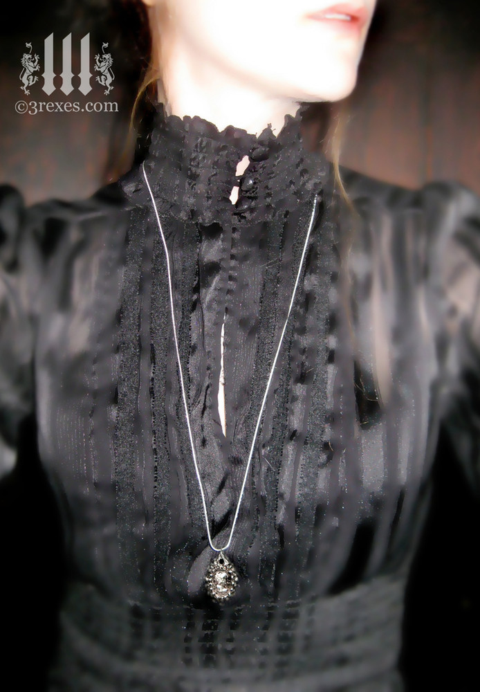 haunted ghost cameo necklace