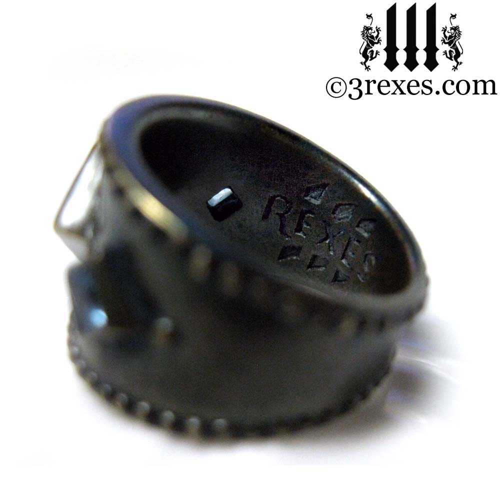 medieval ring side view