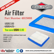Part 491588S Briggs & Stratton - Air Filter  [Free Shipping]