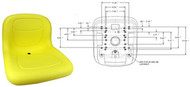 15In. HIGH BACK SEAT YELLOW - (UNIVERSAL) - 13343
