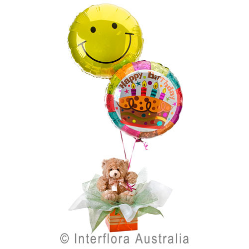 Birthday Surprise Stuffed Toy Balloons Gold Coast Delivery
