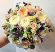 Vintage pastel wedding bouquet, standard size
