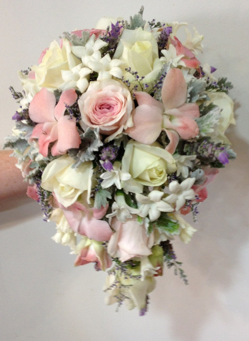 Small vintage tear drop wedding bouquet