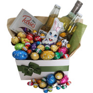 Easter Ashley Hamper - Wine, Coronas, Chocolates and Easter Eggs - Gold Coast Delivery - Botanique Flowers and Gifts