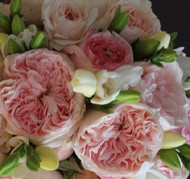 David Austin Roses and Freesias