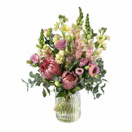 Bliss - rustic, modern bouquet of flowers in a vase - Botanique Flowers and Gifts